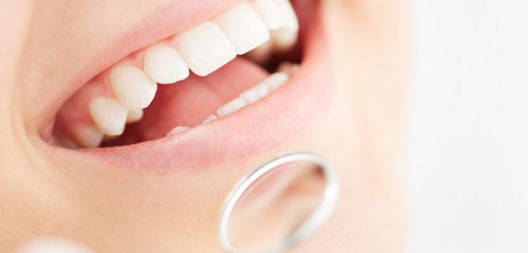 Women having dental check up