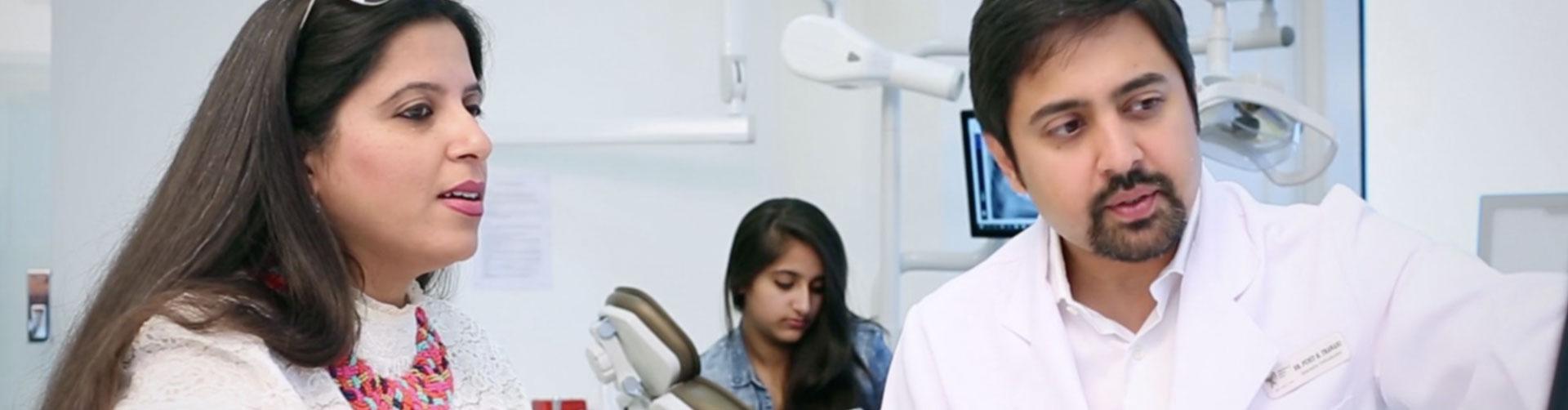 Dr. Punit thawani talking to patient