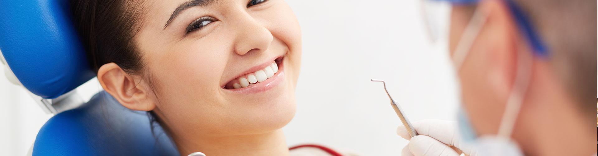 Girl smiling at dental